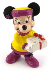 Christmas Minnie with Present BULLY small figure