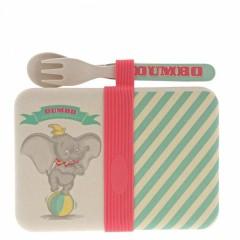 Dumbo Bambus Snackbox mit Besteck-Set