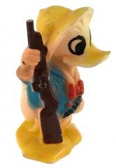 Donald Duck Großwildjäger mit Gewehr Quietschfigur