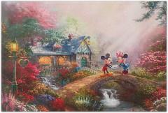 Mickey and Minnie - Sweetheart Bridge THOMAS KINKADE Canvas-Druck 40x30cm/16x12