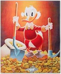 Carl Barks: Pick and Shovel Laborer Canvas-Druck
