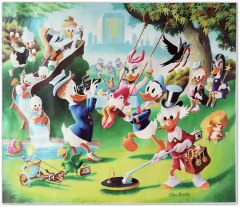 Carl Barks: Holiday in Duckburg Canvas-Druck