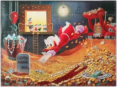 Carl Barks: Sport of Tycoons Canvas-Druck