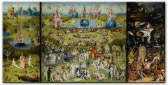 Hieronymus Bosch: Der Garten der Lüste Canvas-Druck