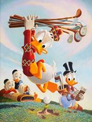 Carl Barks: Flubbity Dubbity Duffer Canvas-Druck