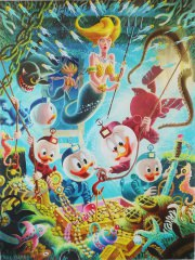 Carl Barks: The Makings of a Fish Story Canvas-Druck
