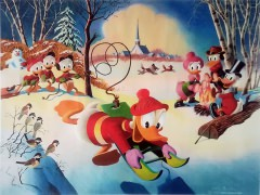 Carl Barks: Snow Fun Canvas-Druck (62x46cm/24x18)