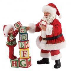 Weihnachtsfigur Bausteine (DEPARTMENT 56) 2 Figuren Enesco 6003457
