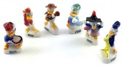 Donald Duck Porzellanfigürchen (6er Satz) 3cm
