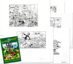 Piit: Zeichnungen zu »Lurchis Abenteuer 113. Folge« (10 Blätter + Heft)