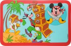Tischmatte Micky, Goofy, Donald Schatzinsel
