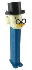 PEZ Spender Dagobert Duck mit Zwicker (Variante: schmale Augen)