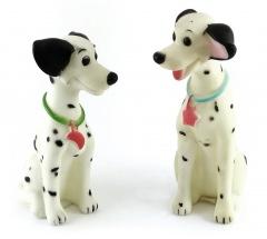 Pongo und Perdita Quietschfiguren 14cm/13cm