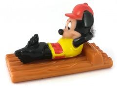 Micky Maus auf Floß Kleinfigur
