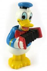 Donald Duck mit Ziehharmonika Wackelkopf-Figur 9,7cm