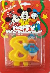 Kerze Donald Duck 8 Geburtstagskuchen-Aufsatz