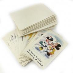 Neujahrskärtchen Micky Maus mit Umschlag