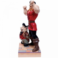 Muscle-Bound Menace (Gaston and Lefou Figurine) DISNEY TRADITIONS