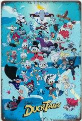 Retro-Blechschild Duck Tales 20x30cm