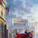 Batman, Superman, and Wonder Woman: The Trinity I THOMAS KINKADE Canvas Print 30x20cm/12x8