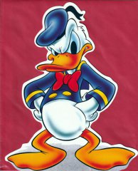 Standup Donald Duck with envelope
