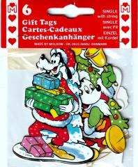 6 Geschenkanhänger Micky & Freunde