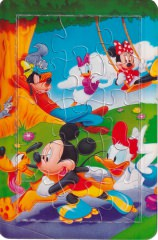 Puzzle Post Card Mickey and Friends Leisure Sports