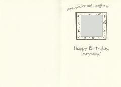 Geburtstagskarte Donald Duck Laugh in the face of old age mit Umschlag