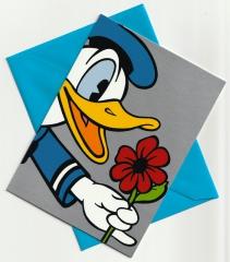 Geburtstagskarte Donald Picks a Flower mit Umschlag
