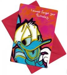 Geburtstagskarte Donald Duck I almost forgot your birthday mit Umschlag