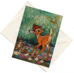 3D-Postkarte Bambi (mit Umschlag)