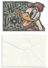 Mini-Grußkarte mit Umschlag Donald Hi Toots