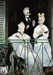 Postkarte Interduck Manets Balkon