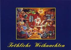 Postkarte Carl Barks: Fröhliche Weihnachten