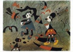Postkarte Interduck Kennen Sie den Weg zum Bahnhof, Herr Miró?