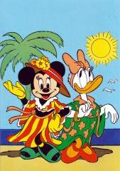 Postkarte Unter Palmen