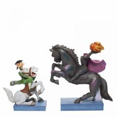 Headless Horseman und Ichabod Crane DISNEY TRADITIONS Figur