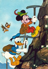 Postcard Donald and Mickey in the Alps
