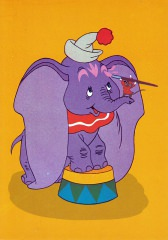 Postkarte Timothy schminkt Dumbo