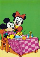 Postkarte Minnis Lätzchen für Micky