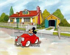 Stamp Plate Block Disney The Mickeymobile / Tanzania
