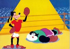 Postkarte Goofys lustige Olympiade: Der K.O.-Sieger