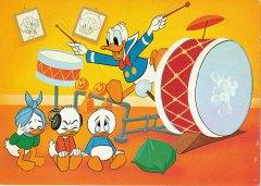 Postkarte Konzertreife Schlagkünste / Donald & Tick, Trick und Track