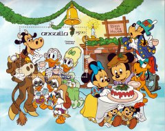 Briefmarkenblock Disney Christmas in England / Anguilla