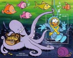 "Briefmarkenblock Disney Berufe ""Deep Sea Treasure Hunter"" / St. Vincent and the Grenadines 1996"