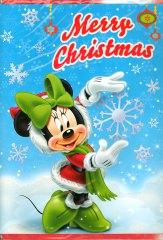 Weihnachtskarte Merry Christmas Minni Maus