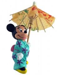 Minni Japanerin mit Regenschirm BULLY Kleinfigur 10cm