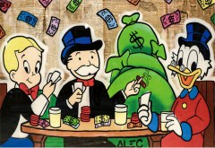 Alec Monopoly: Money on the Wall / Canvas-Druck 30x21cm