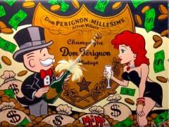 Alec Monopoly: Dom Pérignon / Canvas-Druck 25x20cm