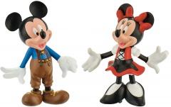 Micky Maus Lederhose / Minni im Dirndl BULLY 2 Kleinfiguren 6,5cm